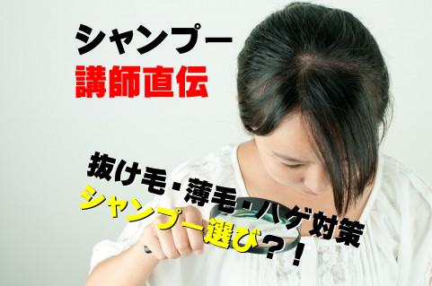 シャンプー講師直伝、抜け毛・薄毛・ハゲ対策シャンプー選び?!
